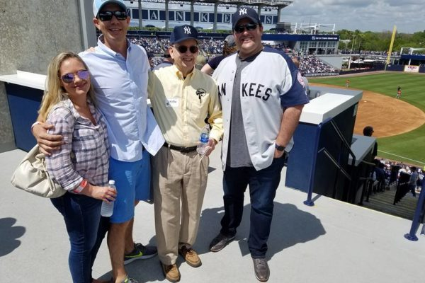 Alumni at George Steinbrenner Stadium for Yankees baseball game
