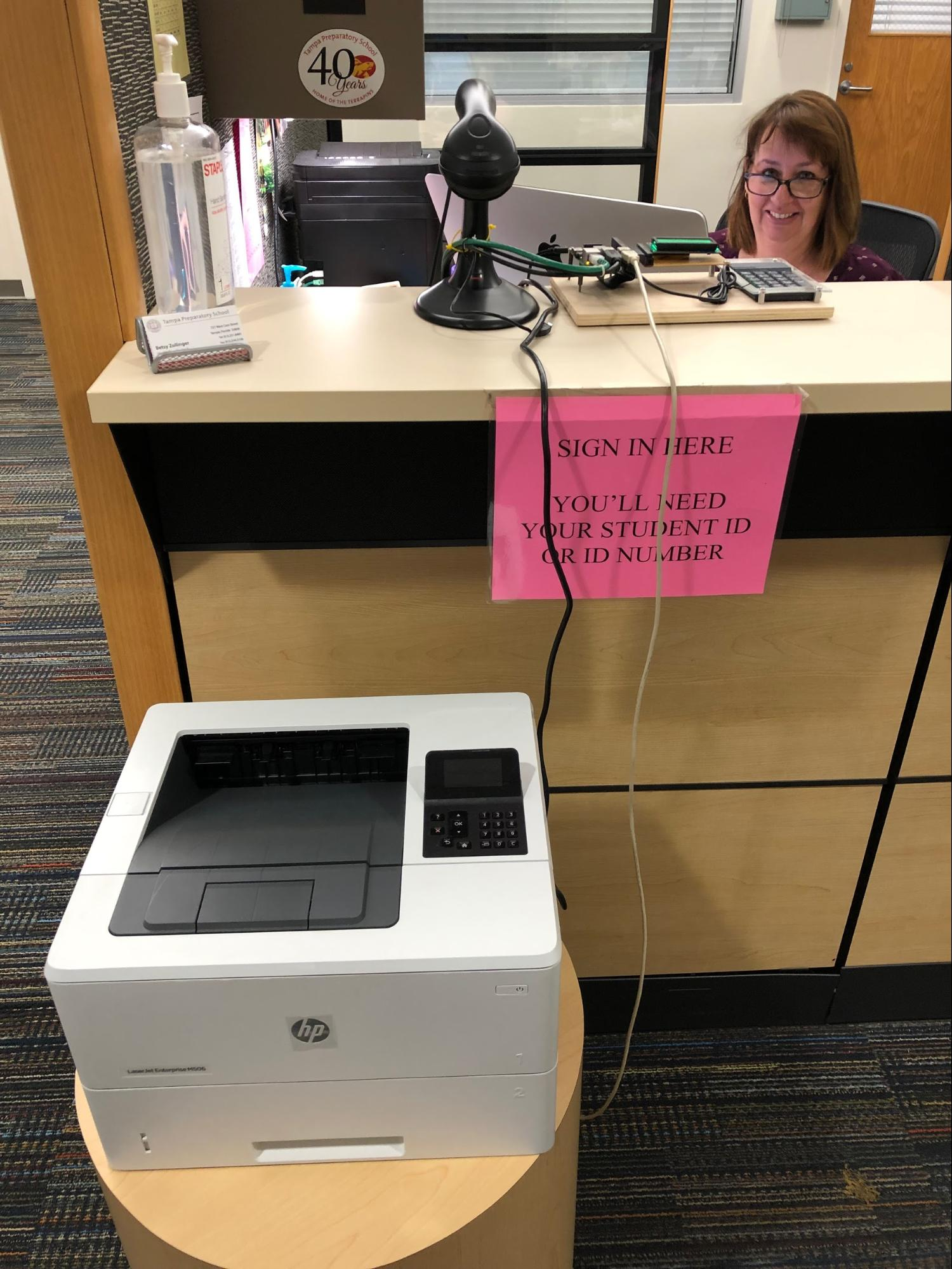 student check-in system created in STEM programming class