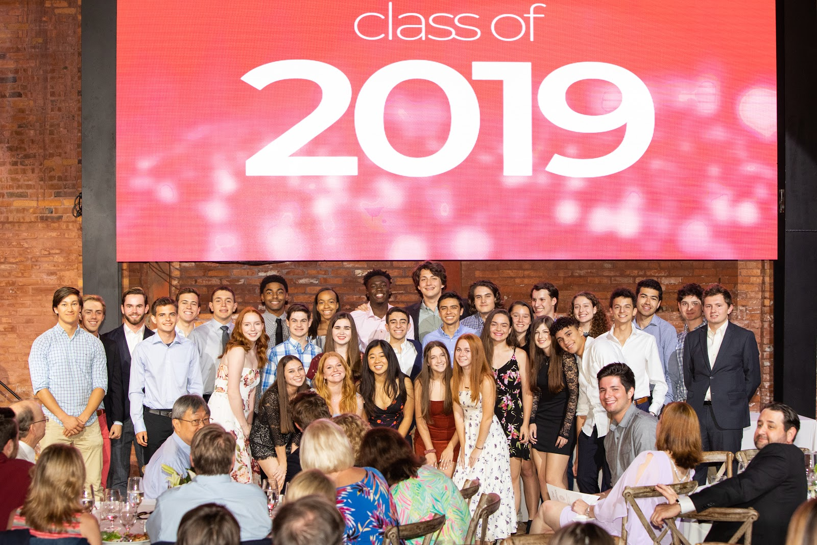 students posing at Senior Celebration 2019