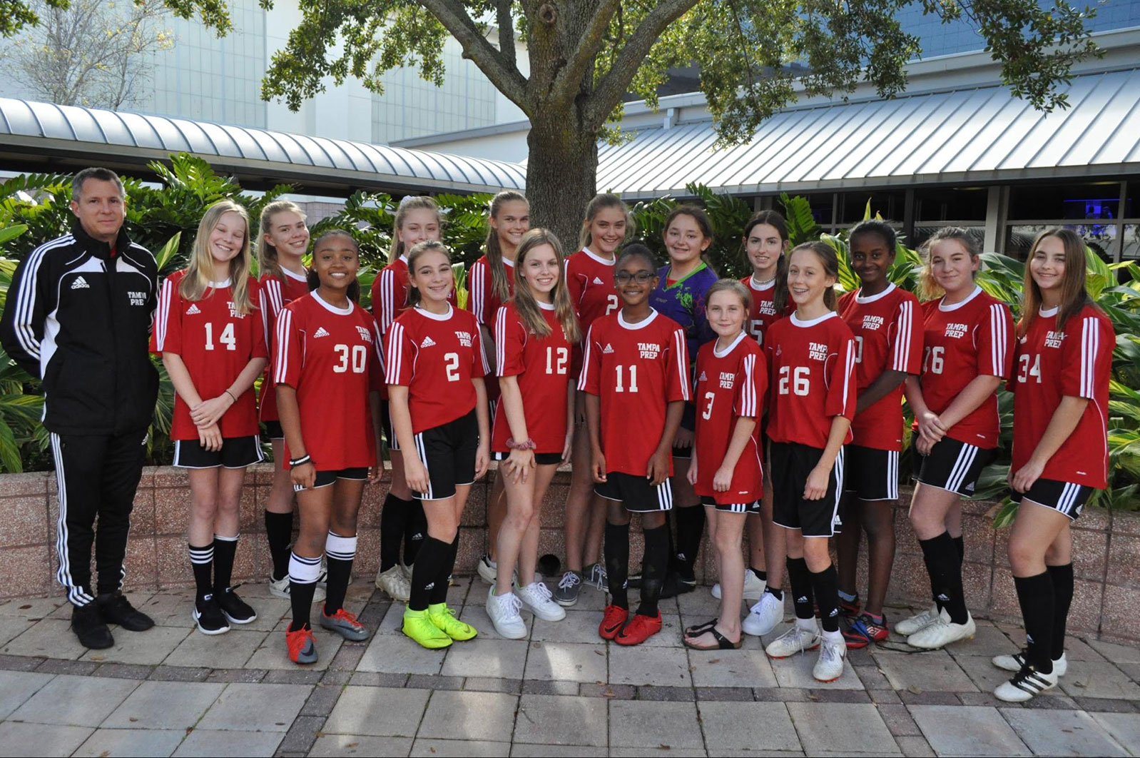 Middle School Girls Soccer Red team picture
