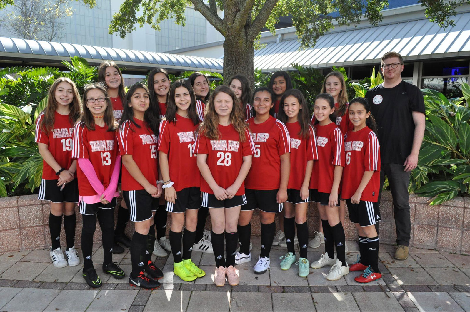 Middle School Girls Soccer team picture
