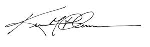 Kevin Plummer's signature, Head of Tampa Prep School