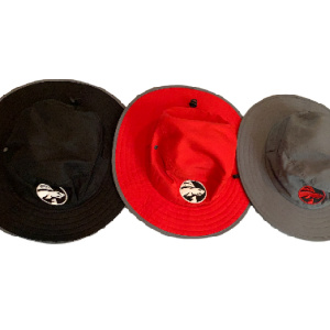 UPF hats black red and grey