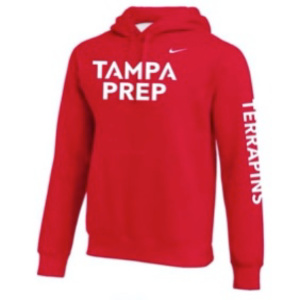 hoodie red white terp logo