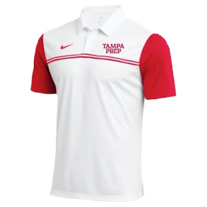 polo red and white 2 stripes nike
