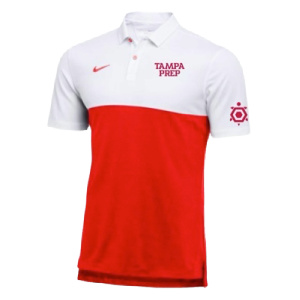 polo red white colorblock nike